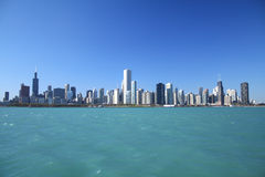 Chicago Skyline. As seen from Lake Michigan royalty free stock images