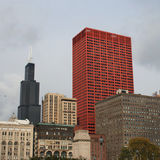 Chicago-Skyline Stockbild