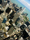 Chicago skyline. From Sears towers Royalty Free Stock Images