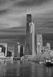The Chicago skyline Stock Photo