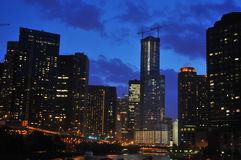 Chicago skyline. Another view of chicago from the river Royalty Free Stock Photos