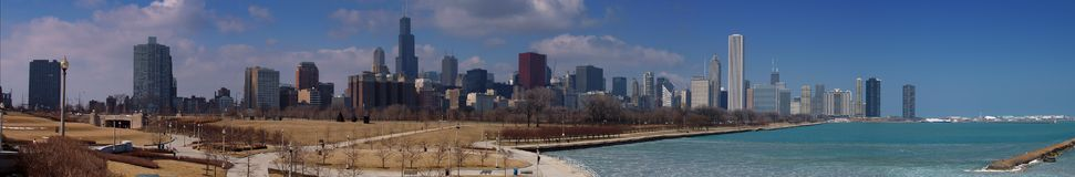 Chicago Skyline. A panoramic view of Chicago Royalty Free Stock Image