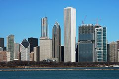 Chicago Skyline. On a clear spring day Royalty Free Stock Images
