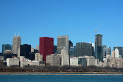Chicago Skyline. On a clear spring day Stock Images