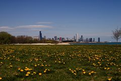 Chicago Skyline. And lakefront Stock Photo