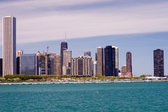 Chicago Skyline. As seen from the museum  campus Royalty Free Stock Photos
