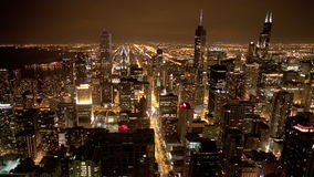 Chicago Skyline from Above stock footage