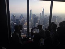 Chicago skyline from above Royalty Free Stock Photo