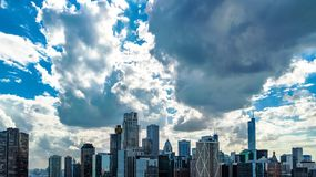 Chicago skyline aerial drone view from above, city of Chicago downtown skyscrapers and lake Michigan cityscape, Illinois, USA stock images