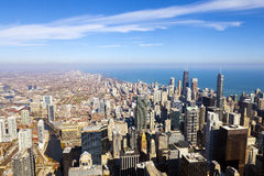 Chicago Skyline Aerial View Stock Photos