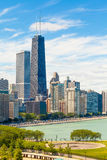 Chicago skyline aerial view Stock Image
