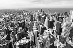 Chicago skyline aerial view Stock Photography