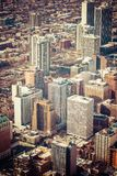 Chicago Skyline Aerial View Royalty Free Stock Image