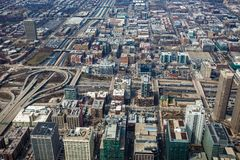 Chicago Skyline Aerial View Royalty Free Stock Photos