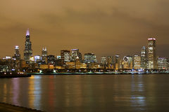Free Chicago Skyline At Night Royalty Free Stock Photography - 4048637