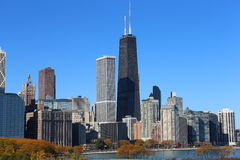 Chicago skyline in autumn Stock Photography