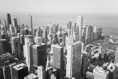 Chicago Skyline in black-and-white Royalty Free Stock Photos