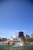 Chicago Skyline and Buckingham Fountain Royalty Free Stock Photography