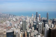 Chicago Skyline and Buildings. Daytime Aerial Shot of Chicago Buildings from the Sears Tower Royalty Free Stock Image