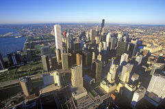 The Chicago Skyline, Chicago, Illinois Stock Photo