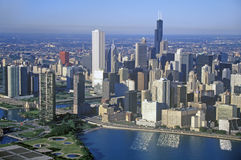The Chicago Skyline, Chicago, Illinois Royalty Free Stock Photography