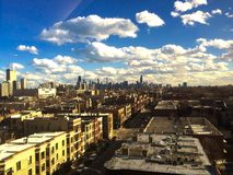 Chicago skyline. From a distance Royalty Free Stock Photo