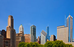Chicago skyline of downtown buildings Royalty Free Stock Photography