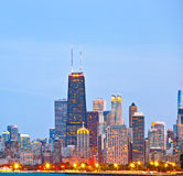 Chicago skyline of downtown Royalty Free Stock Image