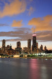 Chicago Skyline at dusk Stock Photography