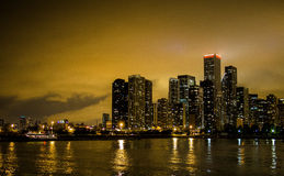 Chicago Skyline at Dusk Royalty Free Stock Images