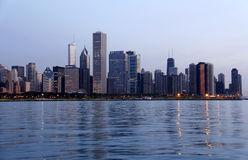 Chicago skyline early morning Royalty Free Stock Photography