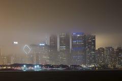 Chicago skyline in fog Royalty Free Stock Photos