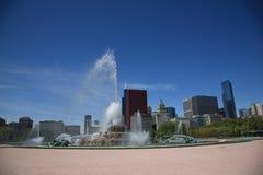 Chicago Skyline and Fountain Stock Photos