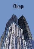 Chicago-Skyline, Hancock-Turm Illinois, USA lizenzfreie abbildung