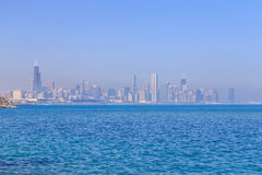 Chicago Skyline in the Haze Royalty Free Stock Photo