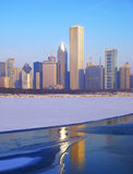 Chicago Skyline on Ice Royalty Free Stock Image