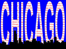 Chicago Skyline illustration Royalty Free Stock Images