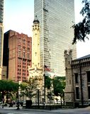 City buildings of Chicago, Illinois. Image taken while walking in downtown Chicago Stock Images