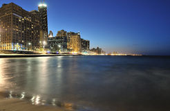 Chicago Skyline and Lake Michigan Stock Image