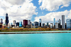 Chicago Skyline with Lake Michigan Royalty Free Stock Photo