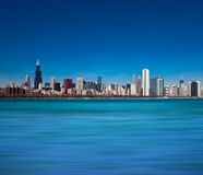 Chicago Skyline from Lake Michigan Royalty Free Stock Photos