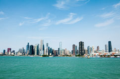 Chicago Skyline Lake View Royalty Free Stock Image