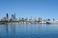 Chicago Skyline of Lakefront Stock Images
