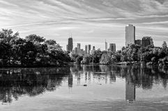 Chicago Skyline from Lincoln Park Stock Photography