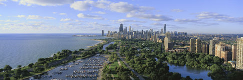 Chicago skyline looking from North Stock Photography