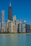Chicago Skyline from the Milton Lee Olive Park Royalty Free Stock Image