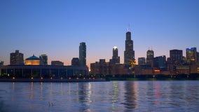 Chicago-Skyline mit Willis Tower stock video footage