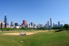 Chicago skyline at morning Royalty Free Stock Image
