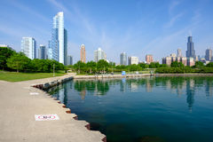 Chicago skyline. In the morning. No brand names or copyright objects royalty free stock photo