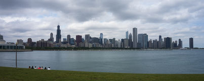 Chicago Skyline. From Museum Campus Stock Photo